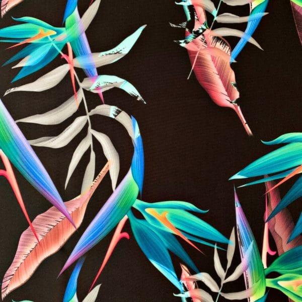 Tropical Print Swimwear Fabric