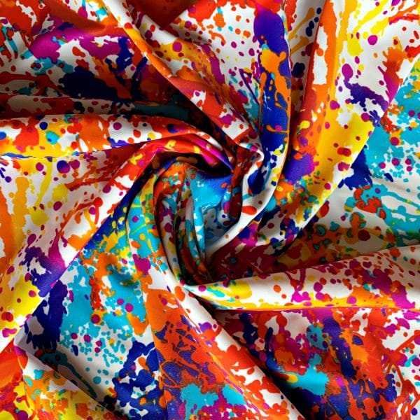 Wholesale Stretch Fabric Prints - Paint Splatter Print Fabric