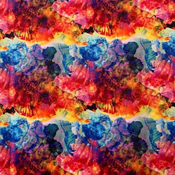 Wholesale printed swimwear fabric - multicolored organic style print