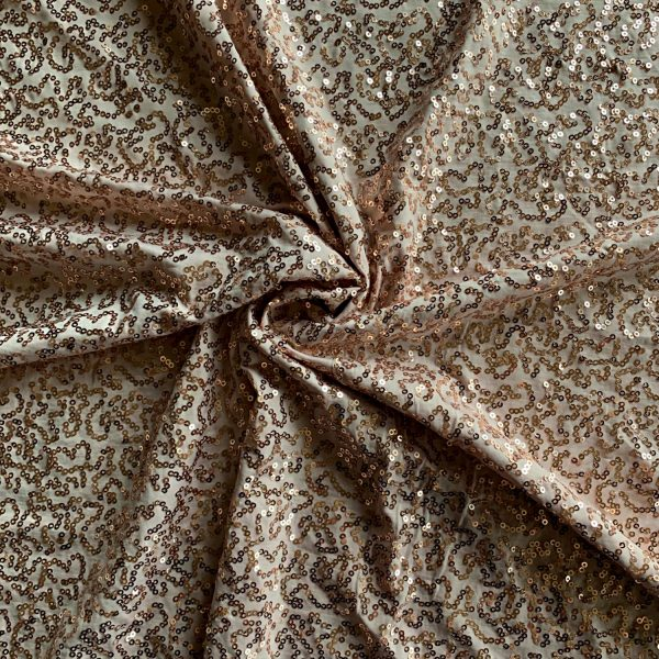 Champagne Sequin Stretch Fabric