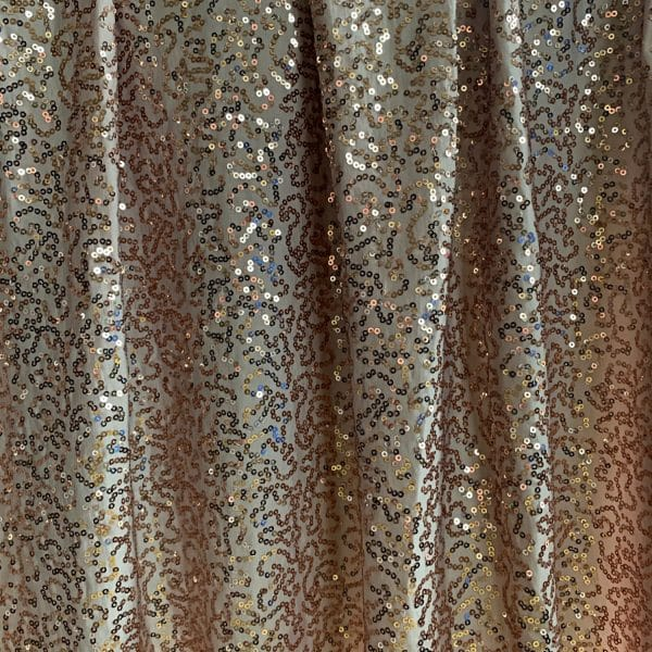 Champagne Sequin Stretch Fabric - Solid Stone Fabrics, Inc.