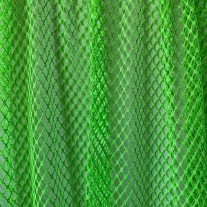 Neon Green Large Gauge Mesh Fabric
