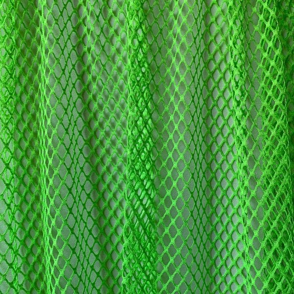 Neon Green Large Gauge Mesh Fabric