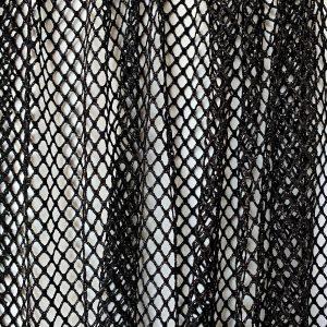 Black Sparkle Mesh Fabric