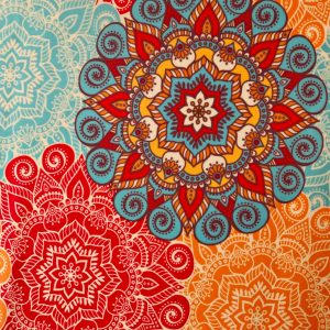 MANDALA PRINT STRETCH FABRIC