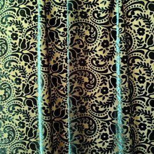 Dark Green Wholesale Velvet Burnout Fabric