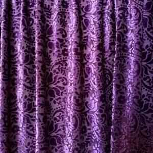 Purple Paisley Velvet Fabric