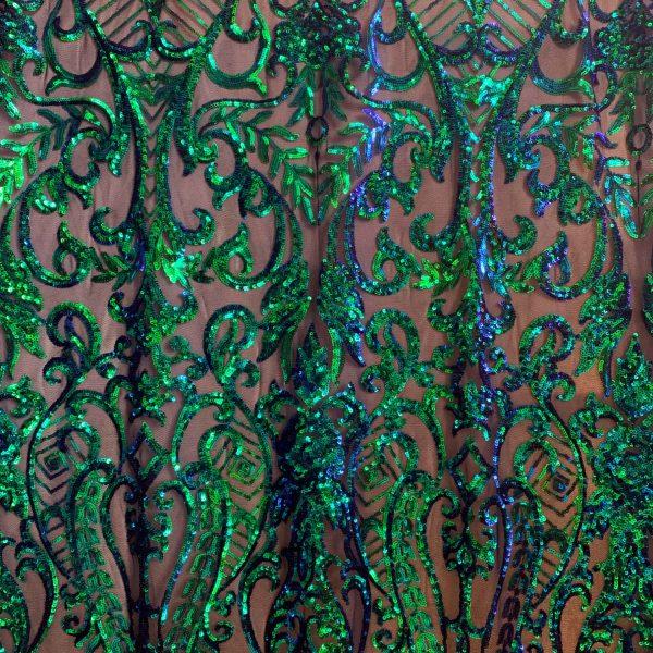 Navy Sequin Mesh Fabric