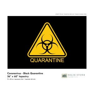 Quarantine warning flag features black background with yellow triangle quarantine symbol for a clear message.  Perfect for healthcare, business or personal use.  Made in the Quarantine warning flag features black background with yellow triangle quarantine symbol for a clear message.  Perfect for healthcare, business or personal use.  Made in the USA with pride and care.USA with pride and care.