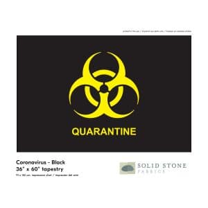 Quarantine flag features black background with neon yellow quarantine symbol for a clear message.  Perfect for healthcare, business or personal use.  Made in the USA with pride and care.