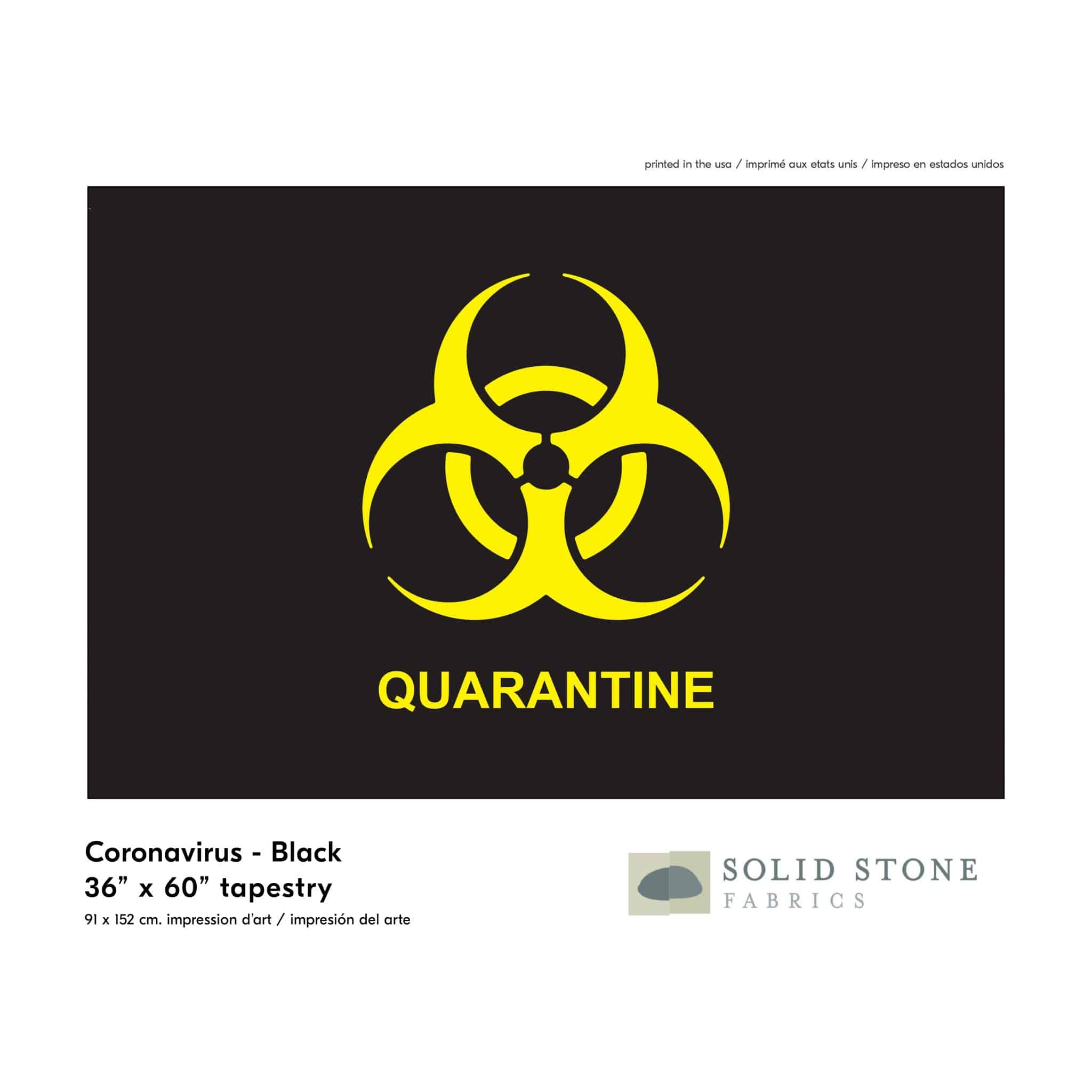 Quarantine Flag – Black