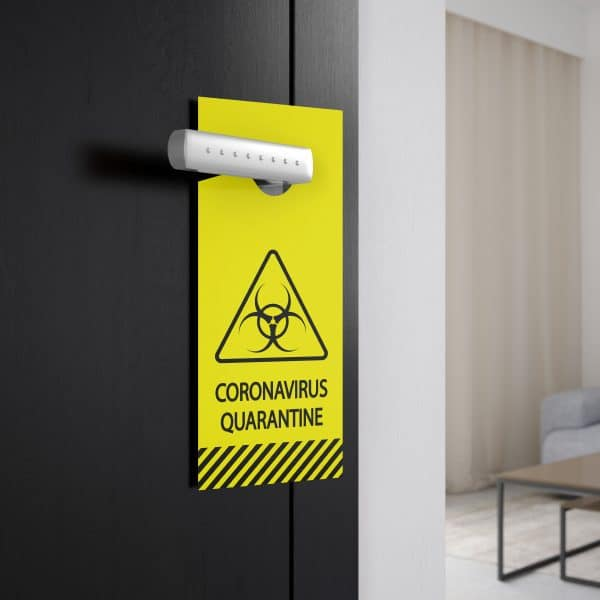 Caution door tag features yellow and black graphics for a clear message.  Perfect for healthcare, business or personal use.  Made in the USA with pride and care.