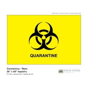 Large Quarantine flag features neon yellow background with black quarantine symbol for a clear message.  Perfect for healthcare, business or personal use.  Made in the USA with pride and care.