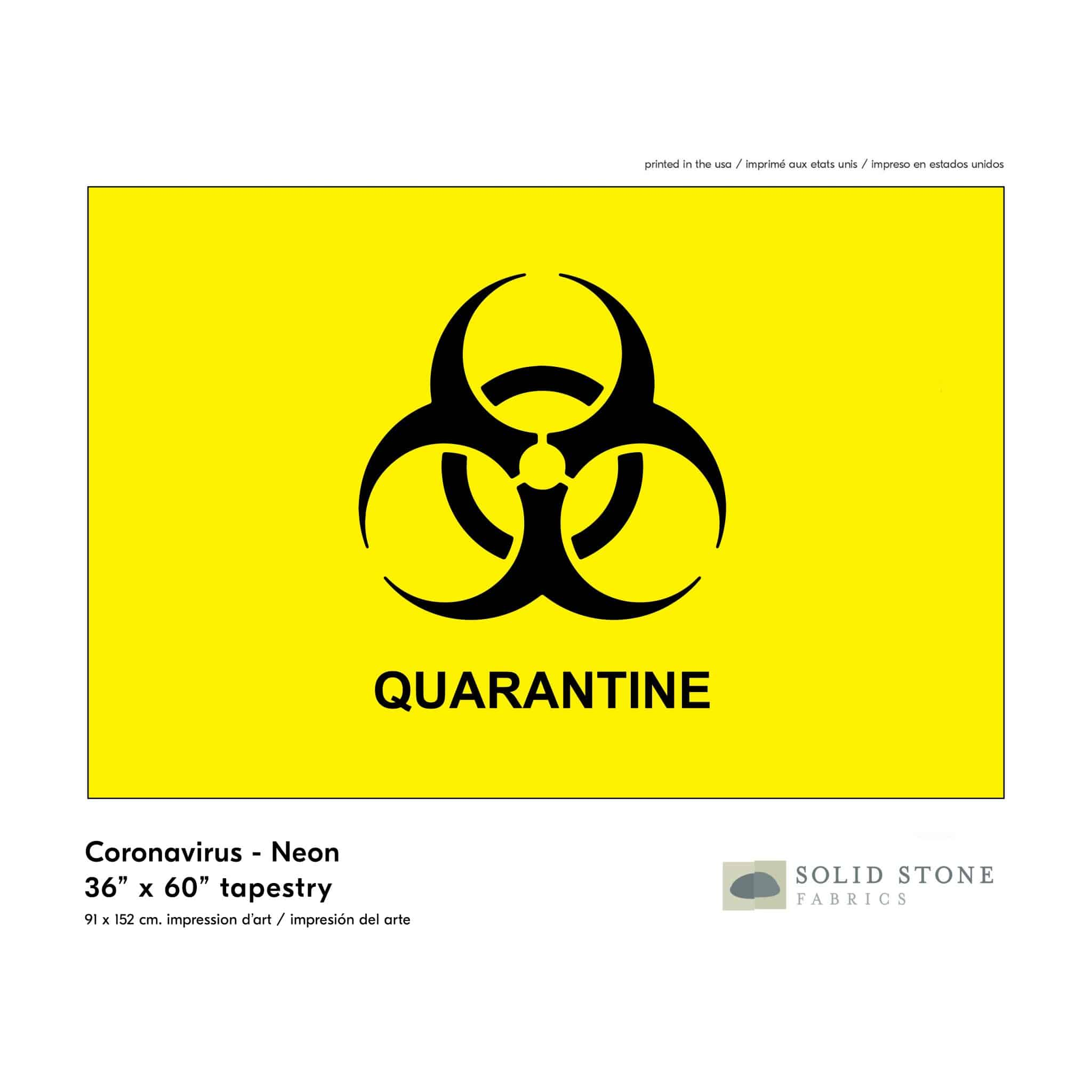 Quarantine Flag – Neon Yellow