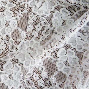 Antoinette Lace - Wide Width Floral Stretch Lace Fabric - Solid Stone Fabrics