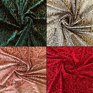 Burnout Velvet Fabric - Wholesale Fabric Supplier Since 2003 - Solid Stone Fabrics, Inc.