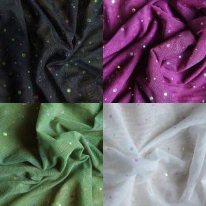 Sequin Dot Mesh Fabric