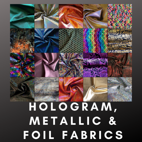 Hologram Metallic and Foil Fabrics - Buy Metallic Fabrics Online - Wholesale Fabrics Online - USA Fabric Shop - Solid Stone Fabrics