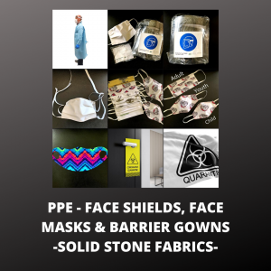 PPE - PERSONAL PROTECTIVE EQUIPMENT MADE IN THE USA - FACE MASKS, FACE SHIELDS, BARRIER GOWNS