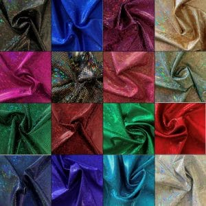 SHATTERED GLASS FABRIC - BROKEN GLASS FABRIC - HOLOGRAM FABRIC BY THE YARD - WHOLESALE FABRIC ONLINE - SOLID STONE FABRICS