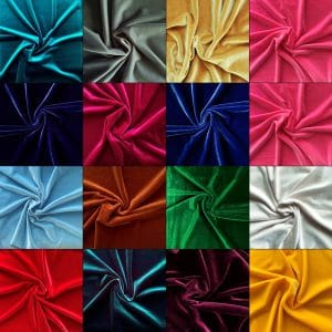 Solid Stretch Velvet Fabric - Solid Stone Fabrics - USA Based Wholesale Fabrics Since 2003
