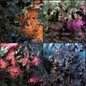 VINTAGE DISTRESSED FOIL STRETCH FABRIC - WHOLESALE FABRICS ONLINE - SOLID STONE FABRICS