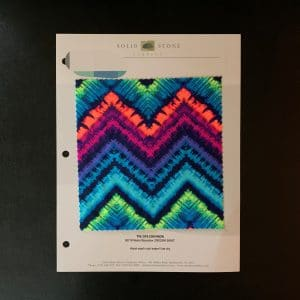 TIE DYE CHEVRON PRINT FABRIC CARD - FABRIC SWATCH - SOLID STONE FABRICS - STRETCH FABRICS AND CUSTOM FABRIC PRINTING SINCE 2003