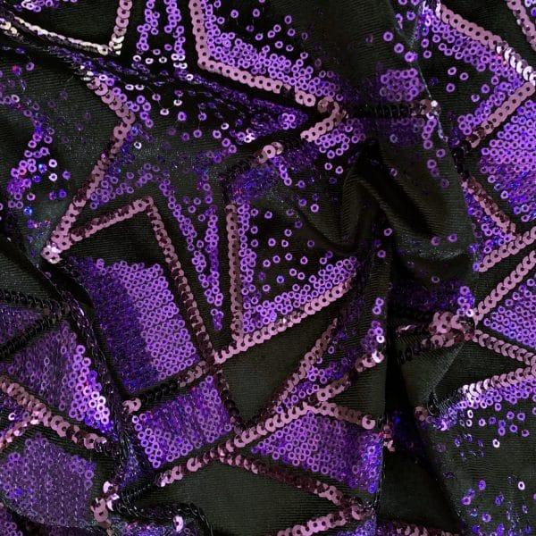 Lavender Sequin Velvet Fabric