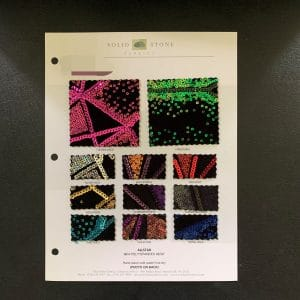 Velvet Sequin Fabric Swatches