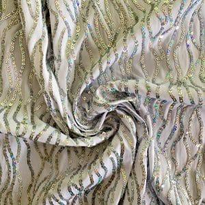 Silver Wholesale Sequin Fabric