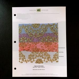 Wholesale Glitter Fabric Swatches